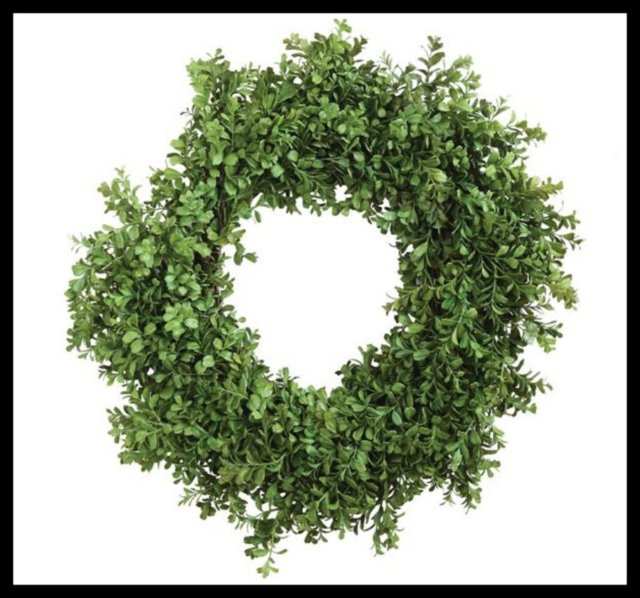 "32"" Faux Boxwood Wreath"