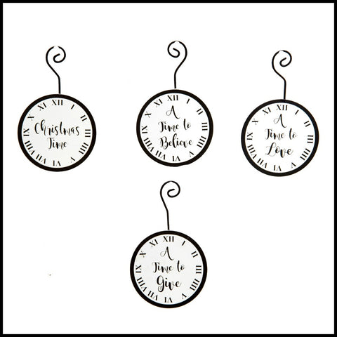 """A Time For"" Clock Ornament"