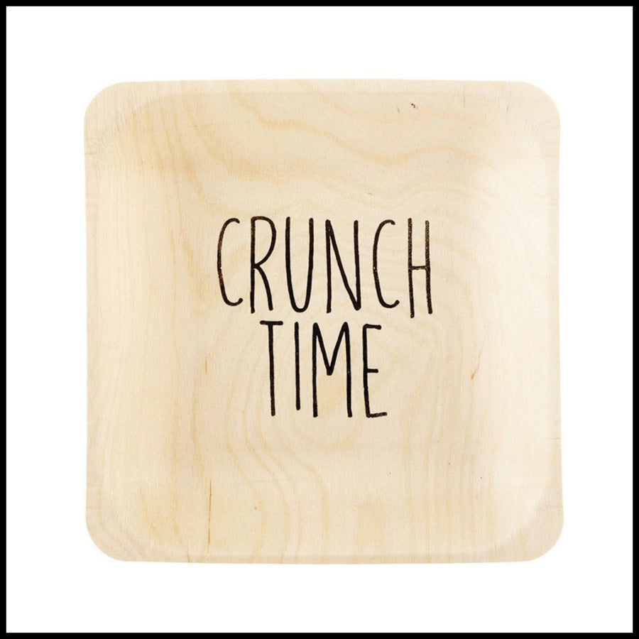 """Crunch Time"" Birch Plate"