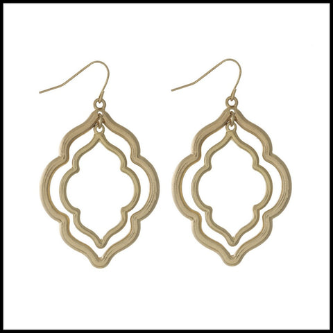 Double Arabesque Dangle Earring