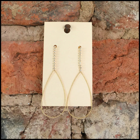 Elan Crystal Teardrop Dangle Earring