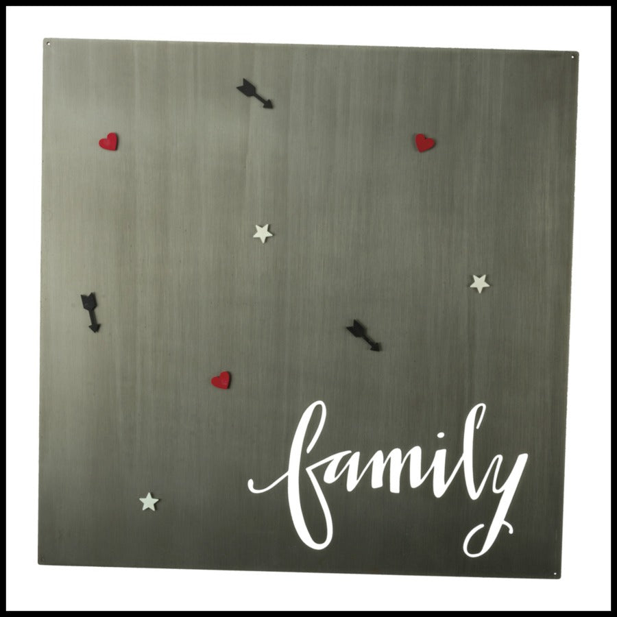 """family"" Metal Magnet Board"