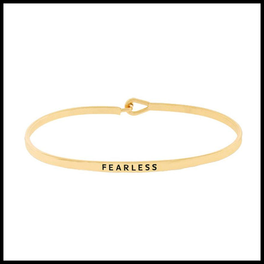 """Fearless"" Message Bracelet"