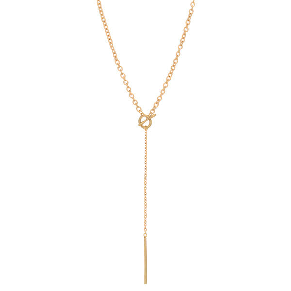 Gold Toggle Drop Necklace