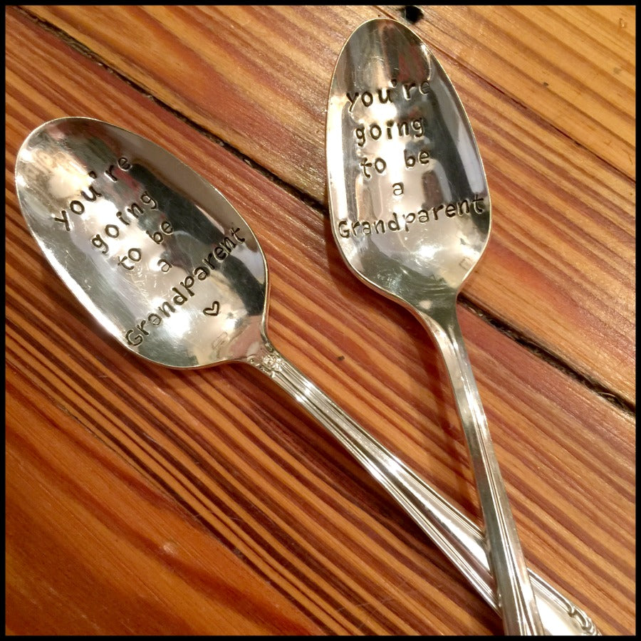 """Going to be a Grandparent"" Reveal Spoon"
