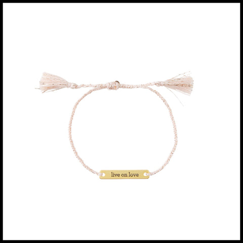 "Joy in a Jar Bracelet--""Live on love"""