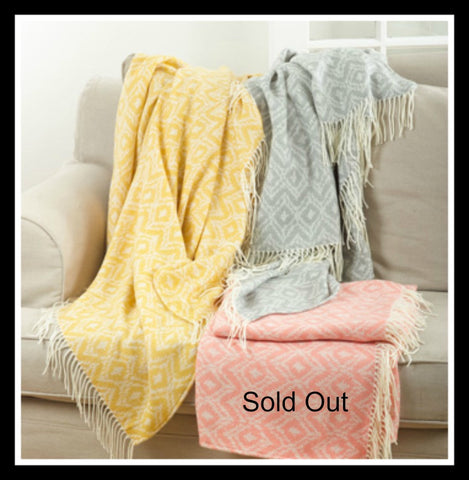 Saffron Jacquard Throw