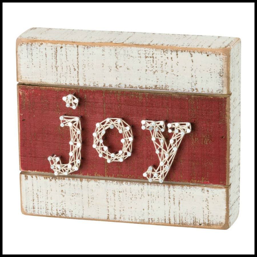 """JOY"" Slat String Art"