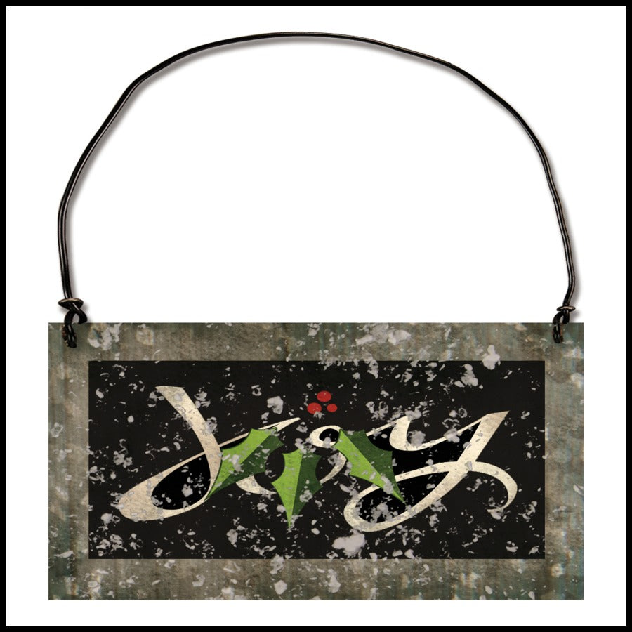 "Holly Berries ""Joy"" Ornament"