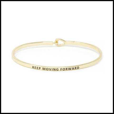 """Keep Moving Forward"" Message Bracelet"