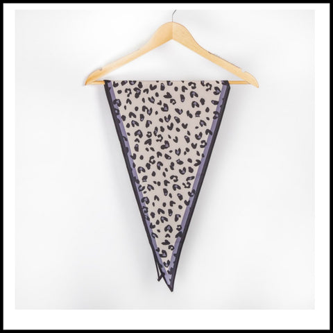 Gray Leopard Neckerchief