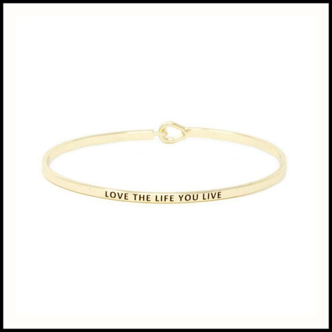 Love the Life You Live Message Bracelet