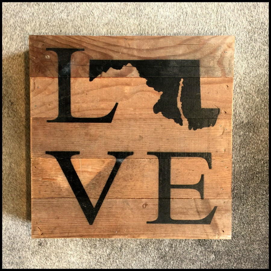 MD Love Reclaimed Wood Sign