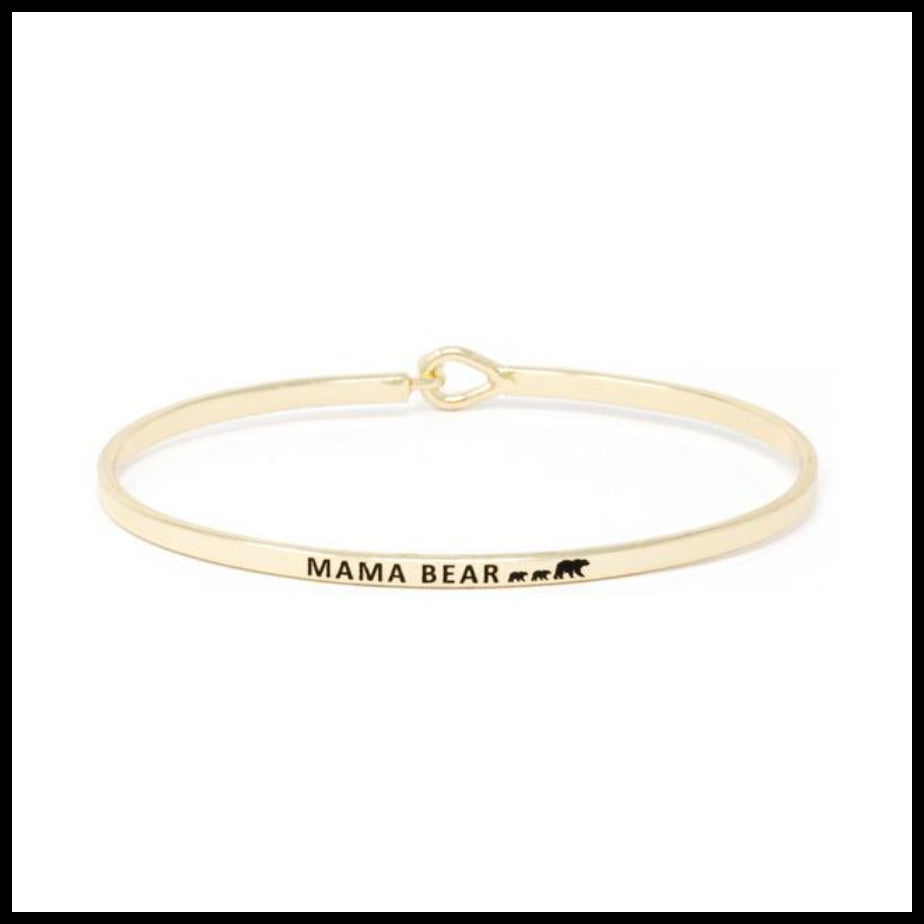 """Mama Bear"" Message Bracelet"