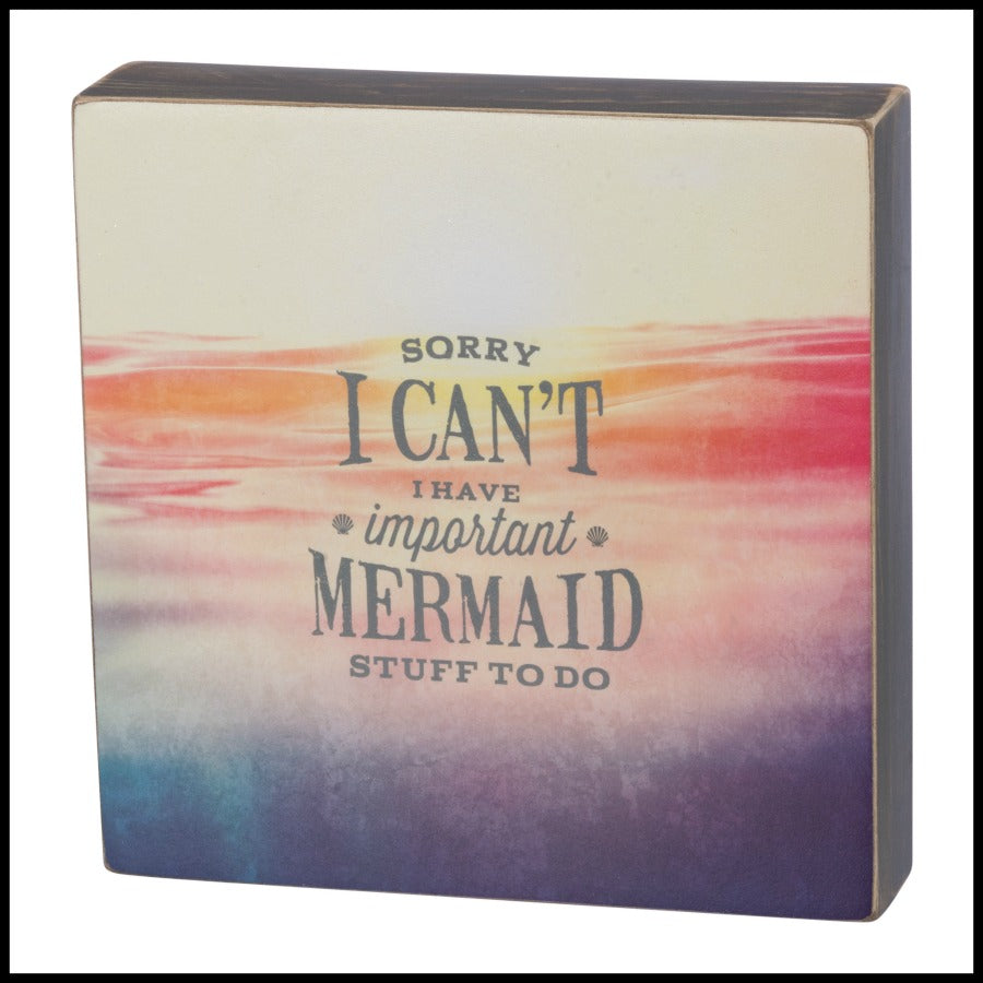 """Mermaid Stuff"" Box Sign"