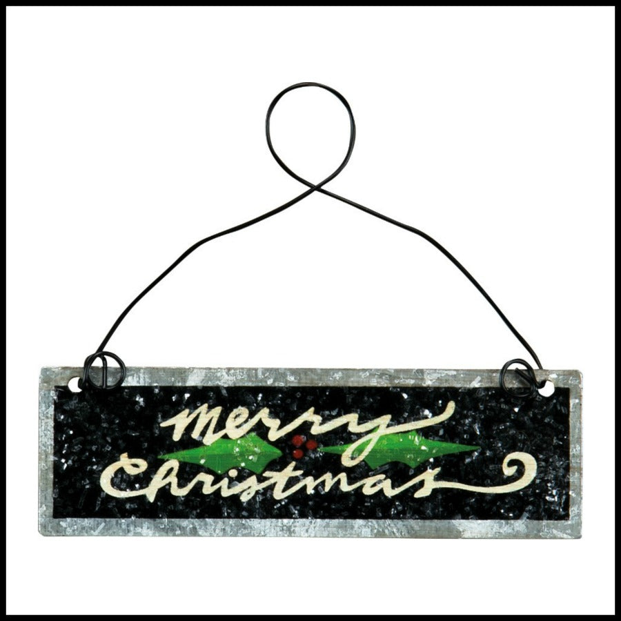 "Holly Berries ""Merry Christmas"" Ornament"
