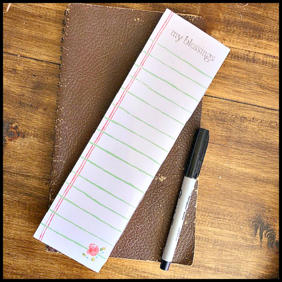 "my blessings ""List Style"" Notepad"