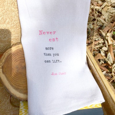 Never Eat More Towel