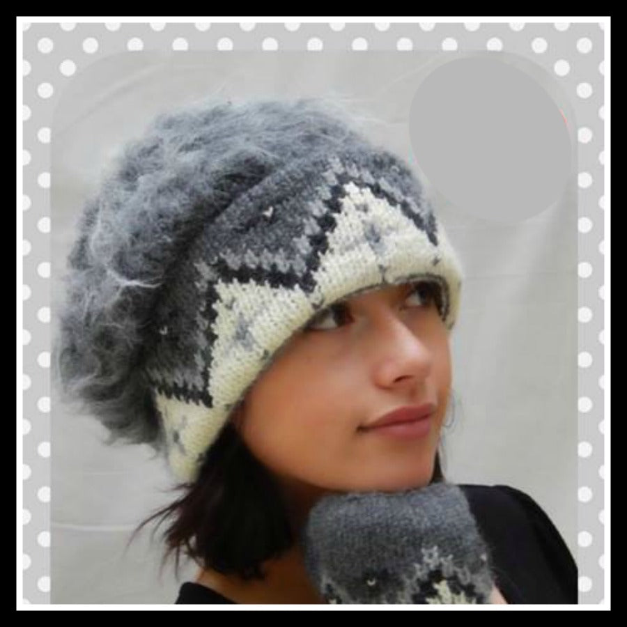 Venetian Pattern Hand Knit Hat