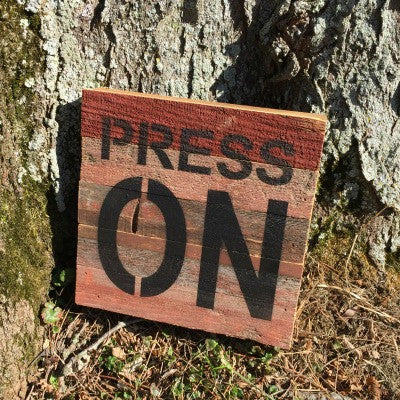 Press On Sign