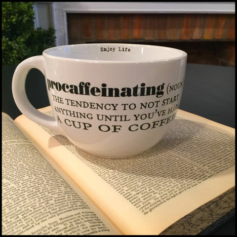 "Procaffeinating . . . "" 24oz Mug"