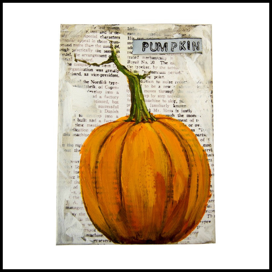 Pumpkin Box Canvas