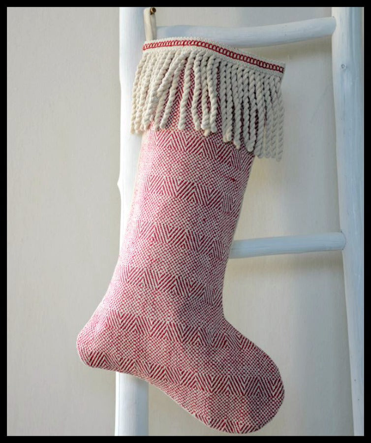 Red Bullion Fringe  Stocking