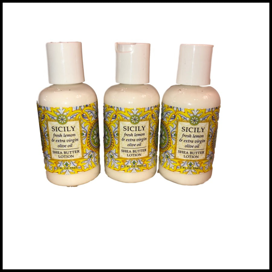 Sicily Shea Butter Lotion, 2oz. Travel Size