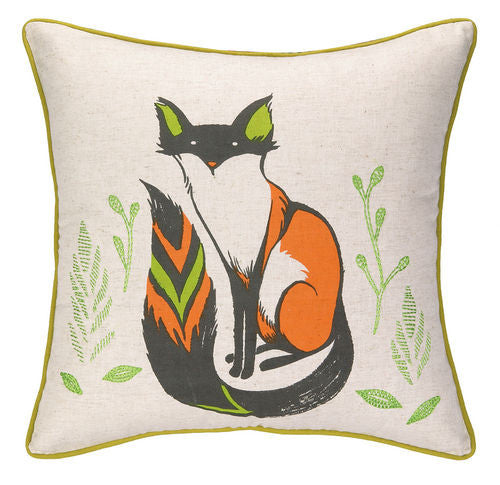 Sly Fox Print Pillow