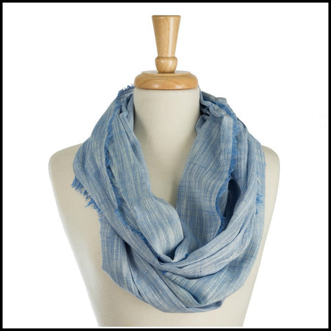 Sky Blue Woven Infinity Scarf