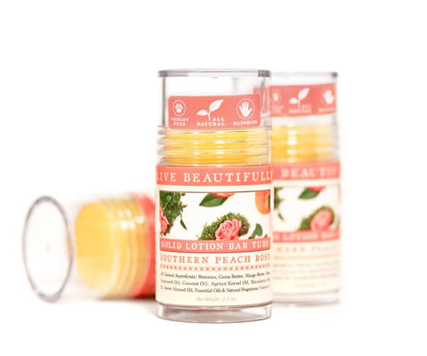 Live Beautifully - Southern Peach Rose Lotion Bar