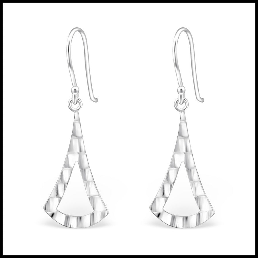 Triangle Dangle Sterling Earring