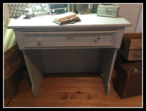Victorian Gray Writing Desk