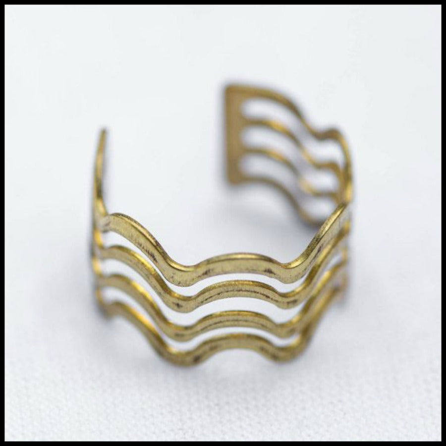 Wavy Brass Ring