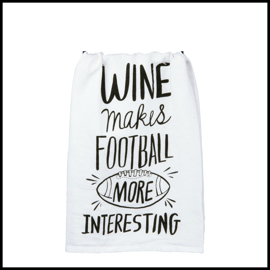 """Football more interesting"" Towel"