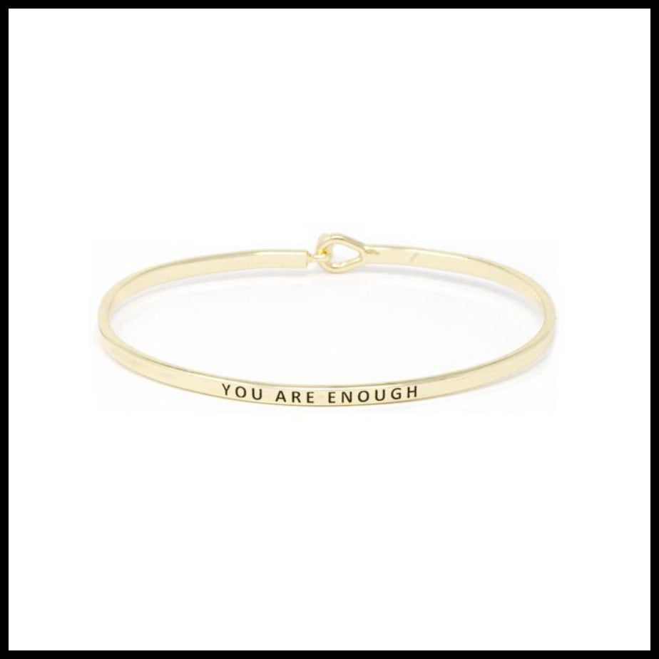 """You are Enough"" Message Bracelet"