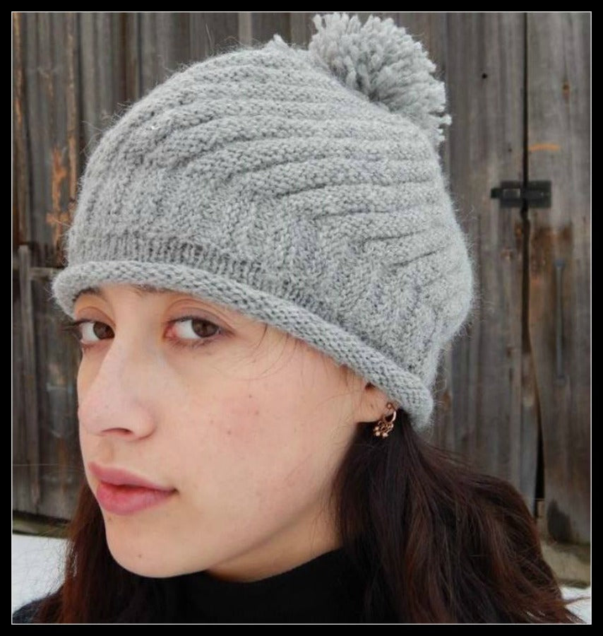 Zig Zag Pattern Hand Knit Hat – The Robin\'s Nest