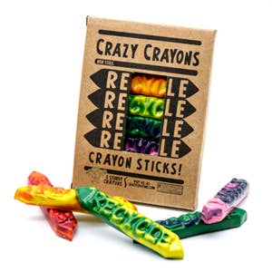 Crazy Crayons - Recycle Sticks Crayon - 8 Box