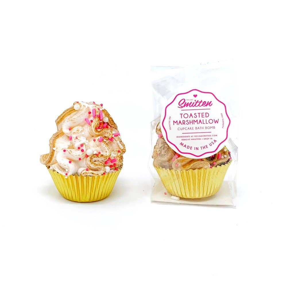 Feeling Smitten - Mini Toasted Marshmallow Cupcake Bath Bomb