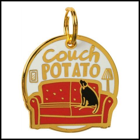 Collar Charm - Couch Potato