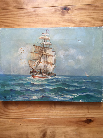 Ship Oil Painting