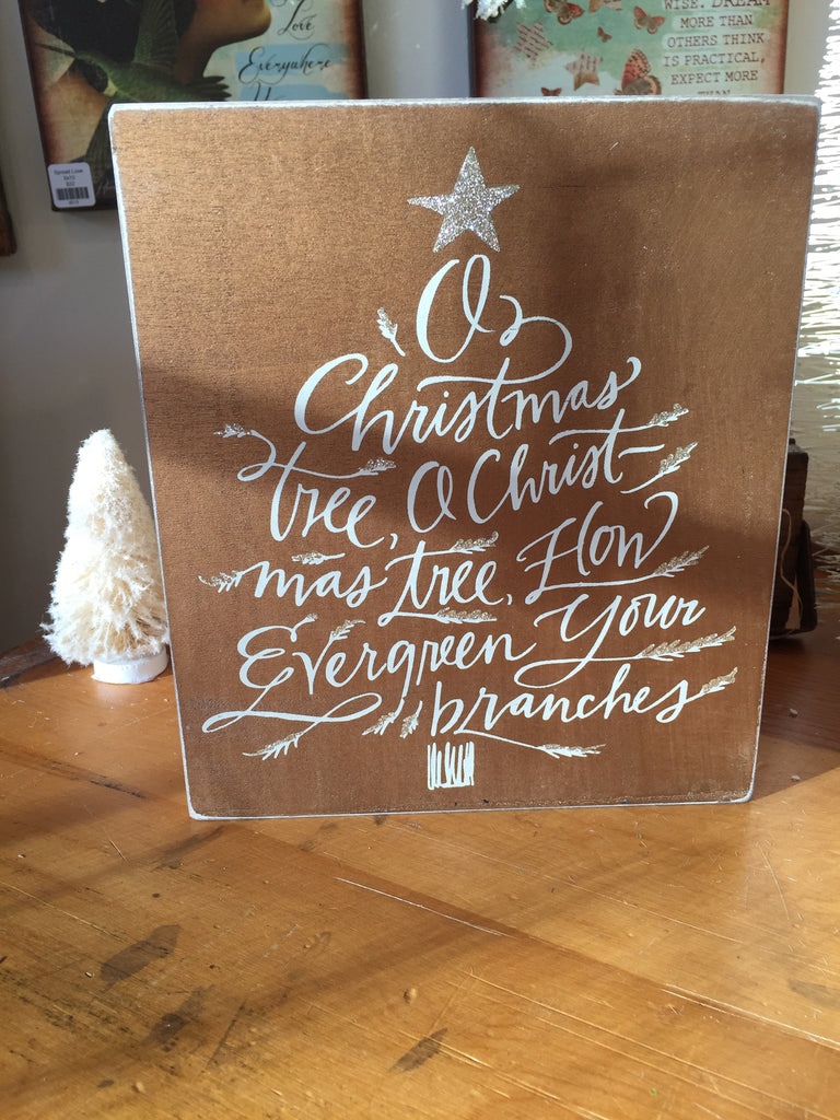 Oh Christmas Tree Box Sign