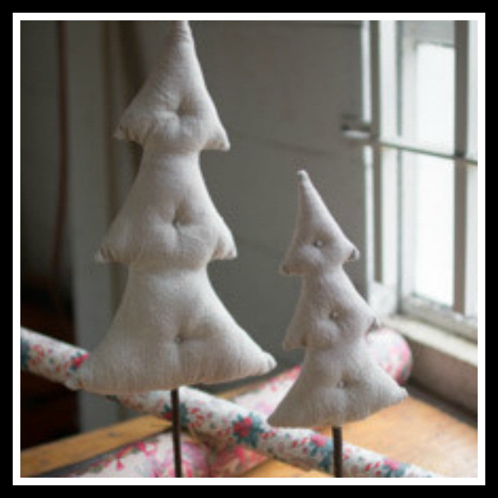 Fabric Tree with Wooden Base