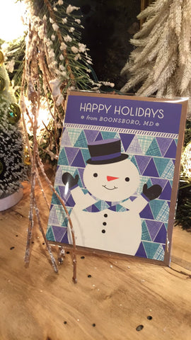 Boonsboro, MD Snowman Holiday Card