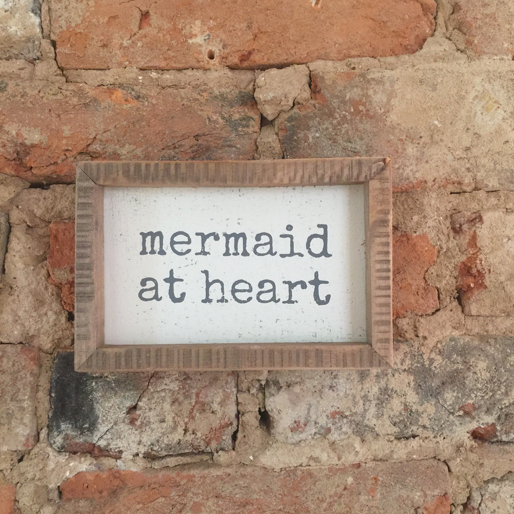 """Mermaid at Heart"" Inset Box Sign"