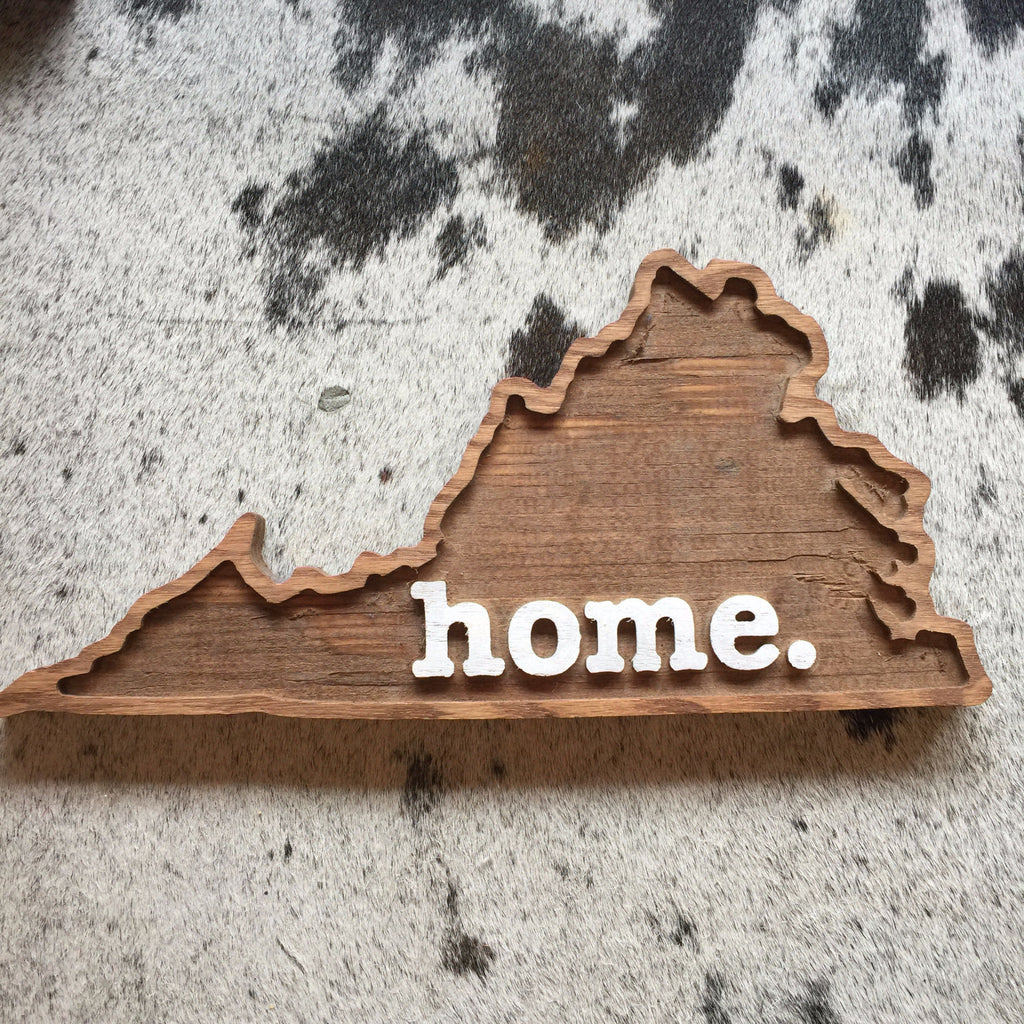 VA Home Wood Plaque