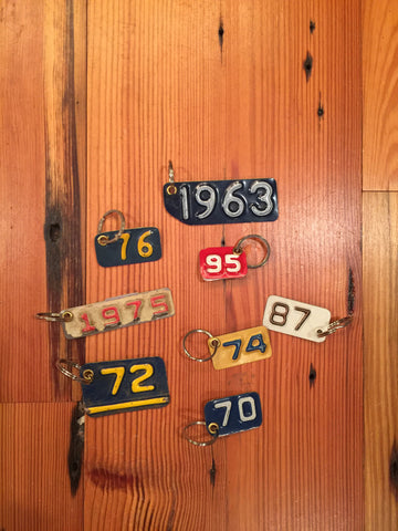 License Plate Key Ring--Numbers