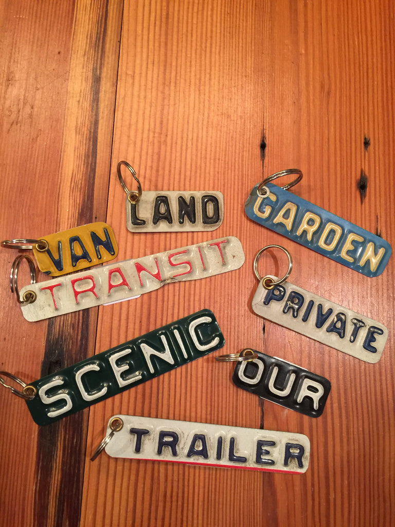 License Plate Key Ring--Word