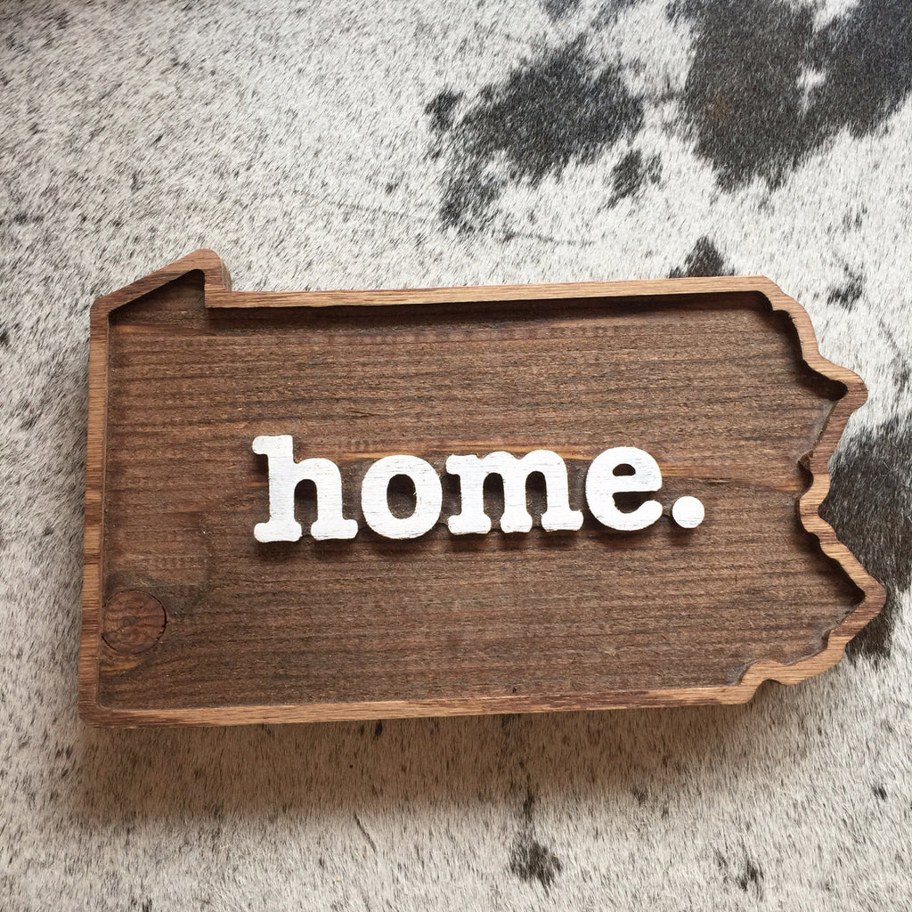 PA Home Wood Plaque