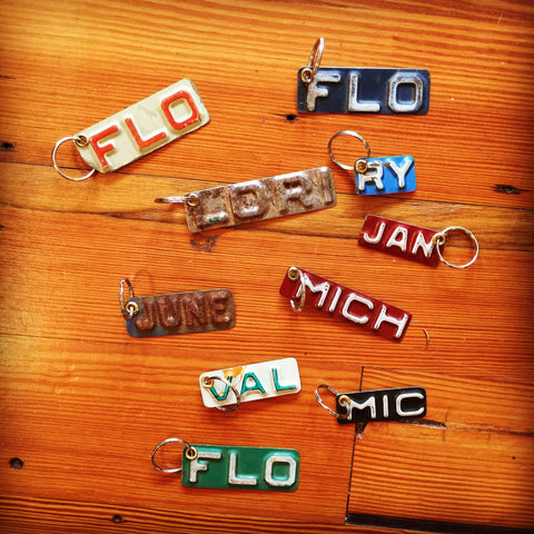 License Plate Key Ring--Name
